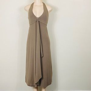 Tommy Bahama tan halter maxi dress!